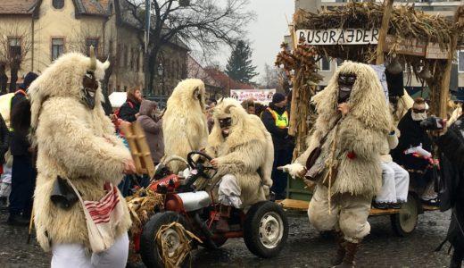ハンガリー南部モハーチ(Mohács)の春を迎えるお祭り「ブショーヤーラーシュ」(Busójárás)、2019年は2月28日(木)〜3月5日(火)に開催!